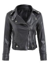 Blend Faux Leather biker jacket Black