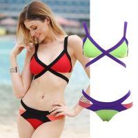 Bikini met Gekruiste Bandjes - Meerkleurig - M