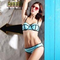 Bikini met Beugel-Top - Lichtblauw - L