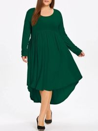 Plus Size High Low Swing Midi Dress