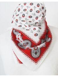 Bandana / boerenzakdoek met rood wit patroon