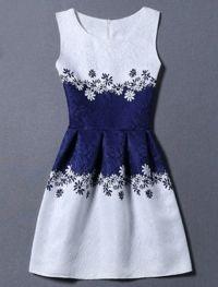 Sunflower Jacquard A Line Cocktail Dress