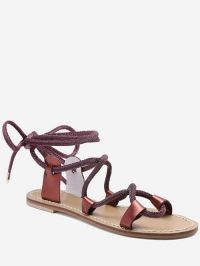 Lace Up Ankle Wraped Sandals