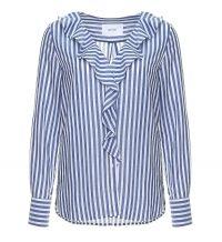 OPUS Lange mouw blouse felmie hs blauw dessin