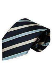 Blauwe stropdas Penne 01