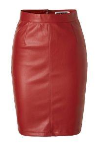 NOISY MAY Imitation Leather Skirt Dames Rood