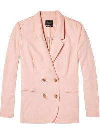 Maison Scotch Slim fit double breasted blazer in blush roze