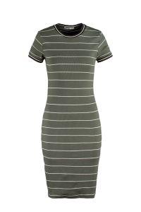 Dibby gestreepte jurk groen