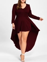Plus Size Long Sleeve Cocktail Dress