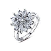 Zirkoon-Ring Rosé-Verguld - Zilver - 54