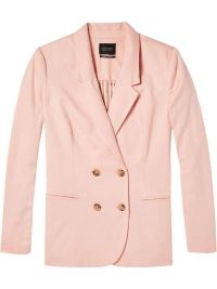 Maison Scotch Slim fit double breasted blazer in blush roze