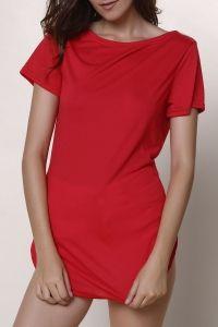 Short Sleeve Casual Mini Shift Dress