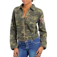 Dames Fashion Army Jacket Zipper