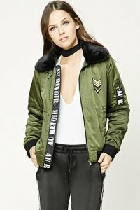 Army Patch Graphic Bomber