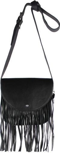 by LouLou - 33BAG Fringed Schoudertas - Zwart