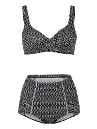 Bikini Maritim zwart/wit