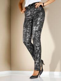 Jeans MIAMODA zwart/zilverkleur