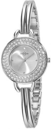 Chonostar STARTLIGHT dames horloge zilver kleurig met kristallen