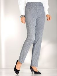 Broek m. collection blauw/wit