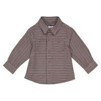 Gestreept hemd met lange mouwen, 1 mnd - 3 jaar