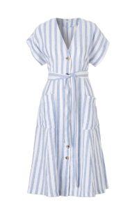 linnen A-lijn jurk met strepen