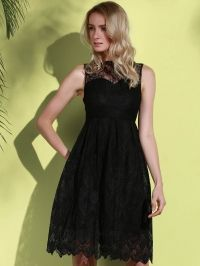 Midi Illusion Yoke Lace Party Short Prom Dress