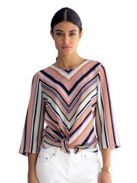 Tuniek met streepdessin Alba Moda roze/multicolor