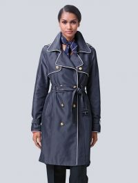 Trenchcoat Alba Moda navy/white