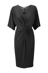 Kimonojurk met V-hals Zwart Steps