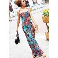 Maxi Halter Print Bohemian Dress for Summer