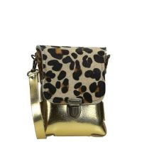 Elvy Lady Belt crossbody tas/ heuptas metallic panther