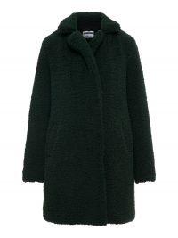 NOISY MAY Long Teddy Coat Dames Grijs