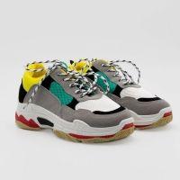 Guts & Gusto - Dames - Sneaker Paulien Wit Geel - Maat 39