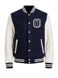 JACK & JONES Wollen Jas Heren Blauw