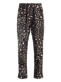 NAME IT Mini Luipaardprint Fluwelen Broek Dames Grijs