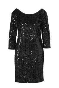 fluwelen pailletten jurk