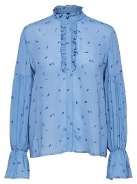Selected Femme Soak blouse met ruches en volantmouw