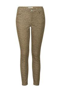 7/8 skinny fit broek met panterprint