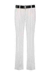 linnen pantalon met strepen