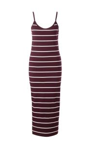 aansluitende midi jurk met streepdessin