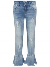 NAME IT Kids Crop Flared Jeans Blauw