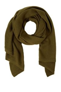 PIECES Lange Asymmetrische Sjaal Dames Green