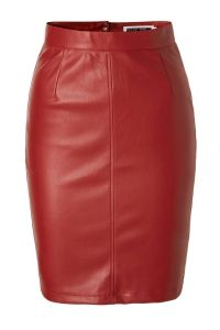 NOISY MAY Imitation Leather Skirt Dames Rood