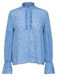 Selected Femme Soak blouse met ruches en volantmouw