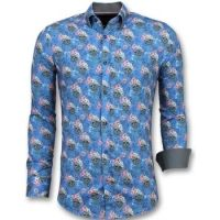 Overhemd Lange Mouw Gentile Bellini  Luxe Italiaanse Overhemden - Bloemen Blouse Mannen - 3014