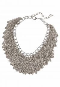 J. Jayz, Dames Ketting, taupe / zilver