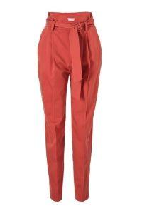 high waisted regular fit pantalon