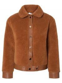 PIECES Short Teddy Jacket Dames Bruin
