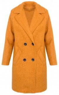 Teddy Coat Okergeel