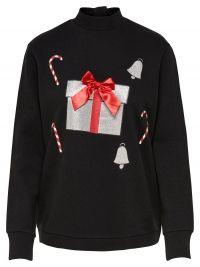 ONLY Kerst Sweatshirt Dames Zwart